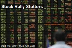 Stock Rally Stutters