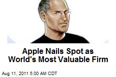 Apple Nails Spot as World's Most Valuable Firm