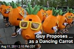 Chinese Man Pang Kun Proposes to Girlfriend As a Dancing Carrot