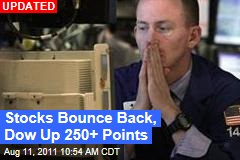 Stocks Bounce Back, Dow Up 100+ Points