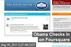 Obama Checks In on Foursquare