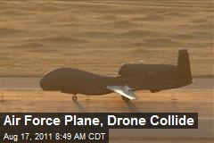 Air Force Plane, Drone Collide