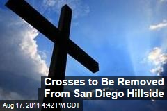 Crosses to be Removed from San Diego Hillside