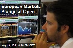 Stock Markets: European Markets Plunge at Open; Asian Markets Down at Close