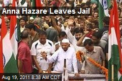 Anna Hazare Leaves Jail