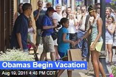 President Obama, Family Begin Vacation on Martha's Vineyard