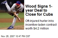 Wood Signs 1-year Deal to Close for Cubs