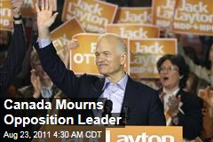 Canadians mourn loss of NDP leader Jack Layton