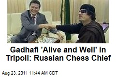 Russian Chess Chief Kirsan Ilyumzhinov: Moammar Gadhafi 'Alive and Well' in Tripoli