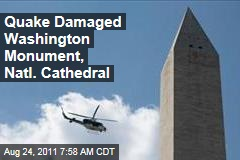 Wash. Monument, Natl. Cathedral Damaged by Quake