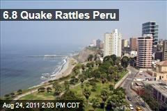 6.8 Earthquake Rattles Peru