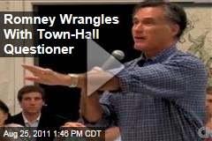Election 2012: Mitt Romney Argues with Town-Hall Questioner