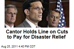 Hurricane Irene Damage Costs Should Be Paid With Budget Cuts: House Majority Leader Eric Cantor