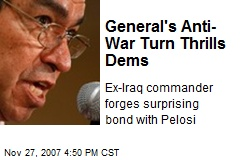 General's Anti-War Turn Thrills Dems