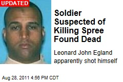 Soldier Leonard John Egland at Large After Suspected Hurricane Killing Spree