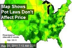Map Shows Pot Laws Don't Affect Price