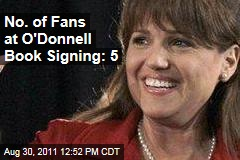 No. of Fans at O'Donnell Book Signing: 5 . - no-of-people-at-christine-odonnell-book-signing-5