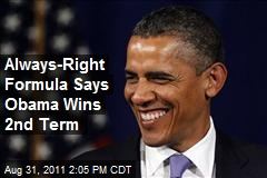 Always-Right Formula Says Obama Wins 2nd Term