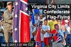 Virginia City Limits Confederate Flag-Flying