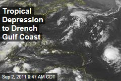 Tropical Depression to Drench Gulf Coast, Could Become Tropical Storm Lee