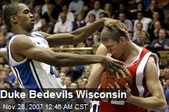 Duke Bedevils Wisconsin