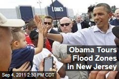 President Obama Tours New Jersey Flood Zones Damaged by Hurricane Irene
