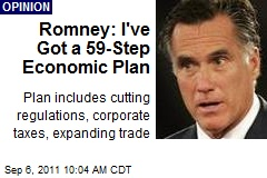 Romney: I've Got a 59-Step Economic Plan