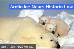 Arctic Ice Nears Historic Low