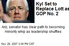Kyl Set to Replace Lott as GOP No. 2