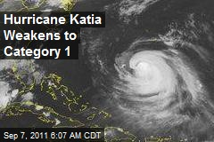 Hurricane Katia Weakens to Category 1