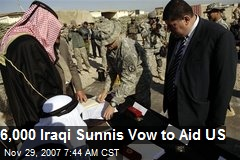 6,000 Iraqi Sunnis Vow to Aid US