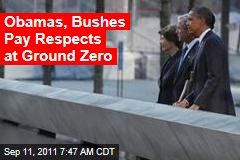 Obamas, Bushes Pay Respects at Ground Zero