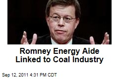 Romney Energy Aide Jim Talent Tied to Coal Industry