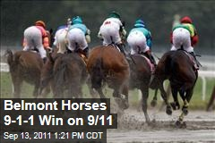 Belmont Horses 9-1-1 Are First Three Winners on 9/11 Anniversary