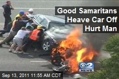 Good Samaritans Heave Car Off Hurt Man