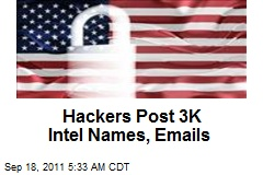 Hackers Post 3K Intel Names, Emails
