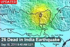 India Earthquake: 6.8 Shaker Hits Sikkim, Near Nepal Border