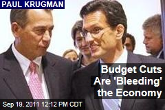 Paul Krugman: Budget Cuts are 'Bleeding' the Economy