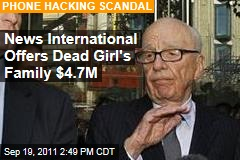 Rupert Murdoch's News International Offers Milly Dowler Family Millions in Phone Hacking Scandal