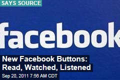 New Facebook Buttons Coming: Watched Read, Listened