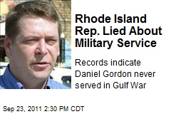 Rhode Island Rep. Lied About Military Service