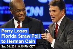 Rick Perry Loses Florida Straw Poll to Herman Cain in Upset