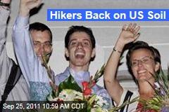Hikers Shane Bauer, Josh Fattal Back on US Soil