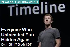 Everyone Who Unfriended You on Facebook Hidden Again