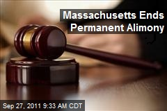 Massachusetts Ends Permanent Alimony