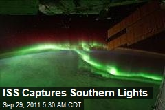 ISS Captures Southern Lights