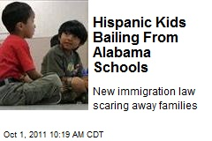 Hispanic Kids Bailing From Alabama Schools