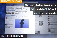 What Job-Seekers Shouldn't Post on Facebook: Survey