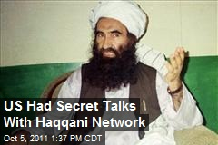 US Had Secret Talks With Haqqani Network