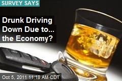 Drunk Driving Down Due to... the Economy?